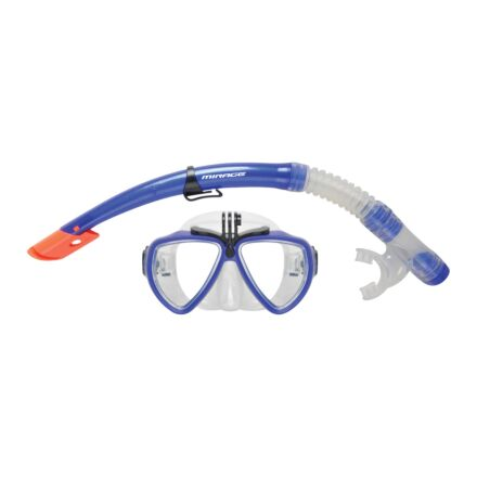 Mirage Set21 Cbl Camera Pro Mask & Snorkel Set - Blue