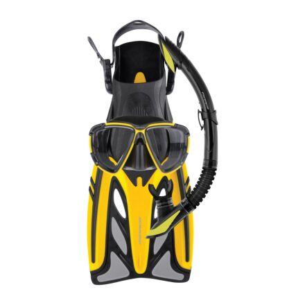 Mirage FSet43 Crystal Adult Mask, Snorkel & Fin Set - Yellow