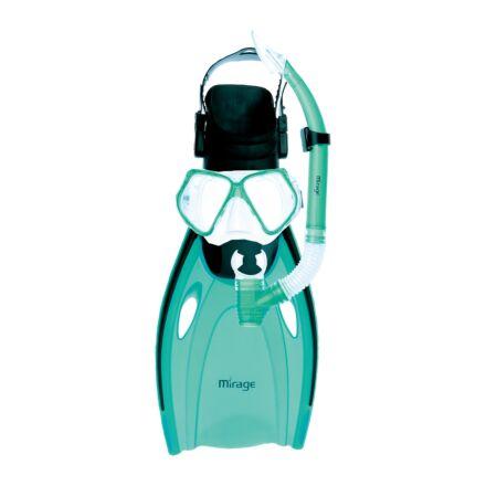 Mirage FSet51 Nomad Adult Mask, Snorkel & Fin Set - Green