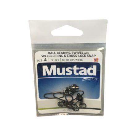 Mustad MA030-BN Ball Bearing Swivel With Welded Ring & Cross-Lock Snap