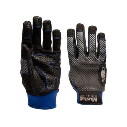 Mustad GL002 Casting Glove - Black/Grey/Blue